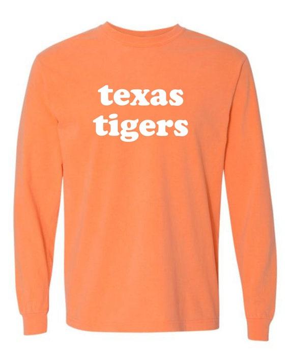 Texas Tigers Comfort Colors Long Sleeve Tee