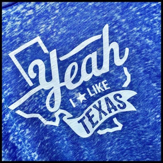 Yeah I Like Texas Acid Wash Super Duper Soft Short Sleeve Tee