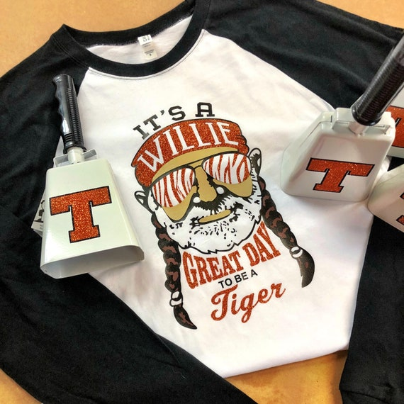 It's a Willie Great Day to be a Tiger Long Sleeve Baseball Tee