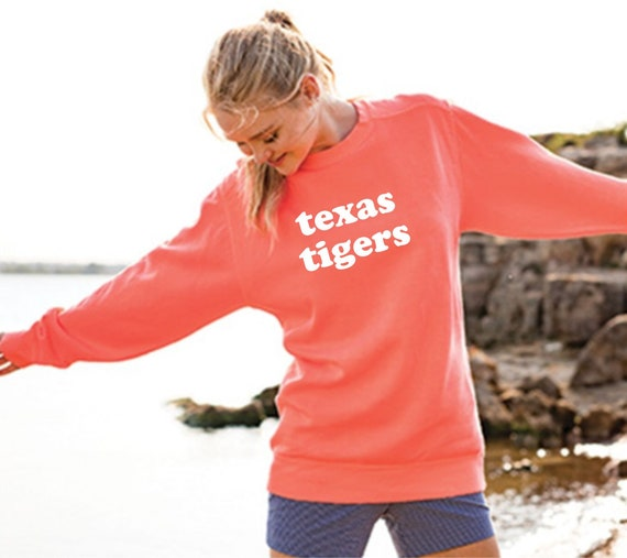 Texas Tigers Comfort Colors Crewneck Sweatshirt