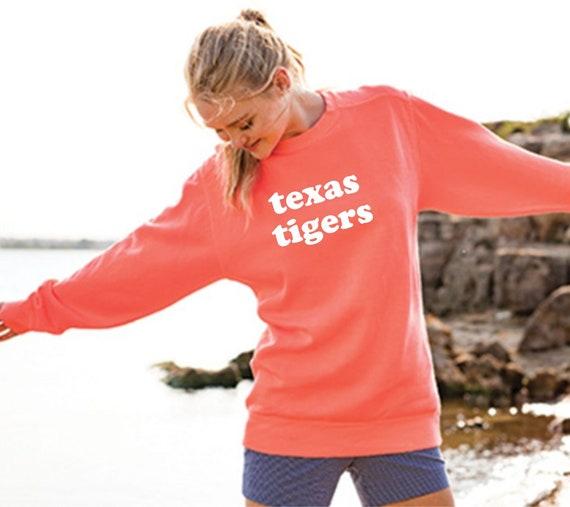 Texas Tigers Comfort Colors Crewneck Sweatshirt