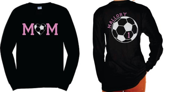 Soccer Mom Blingy LONG Sleeve Tee ** Personalized