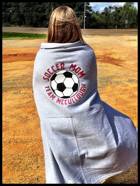 Sweatshirt Sports Fan Blanket -- Any sport, any glitter/vinyl color -- Various colors of blankets