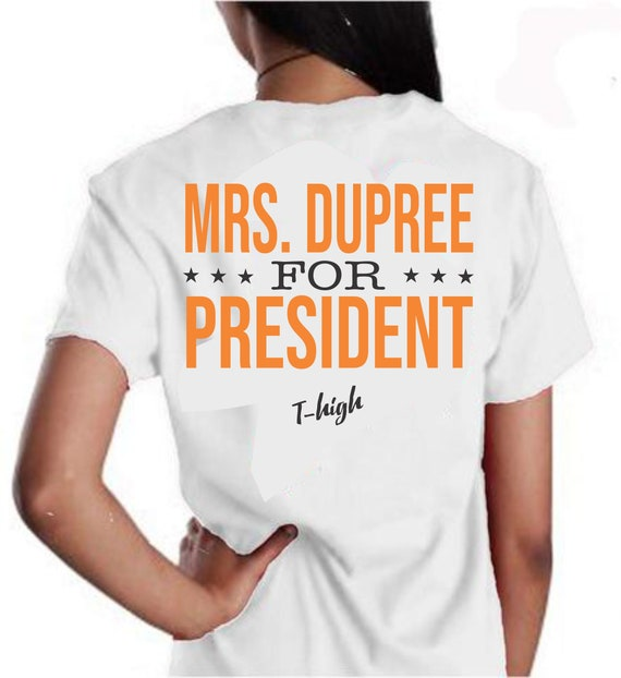 VOTE Mrs. Dupree for President Short Sleeve Comfort Colors Pocket Tee
