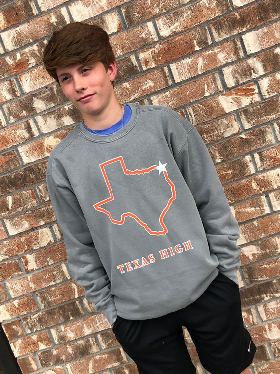 Texas High {state of texas} Comfort Colors Crewneck Sweatshirt
