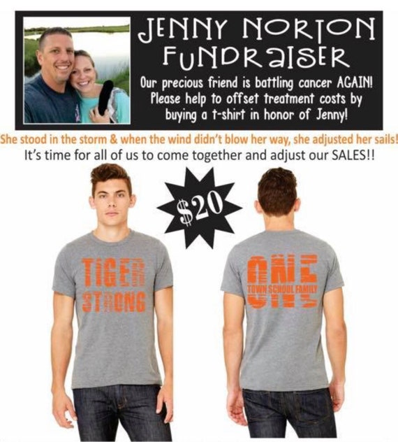 Tiger Strong Soft Style Tee Fundraiser for Jenny Norton
