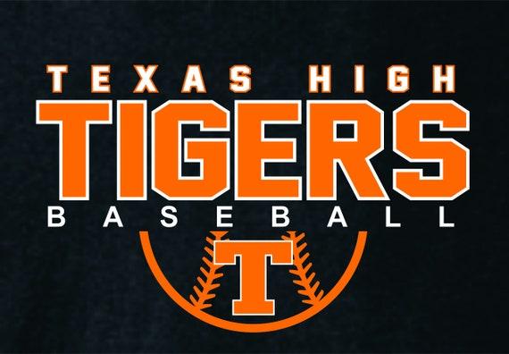 Texas High Tigers Baseball - Baseball Tee