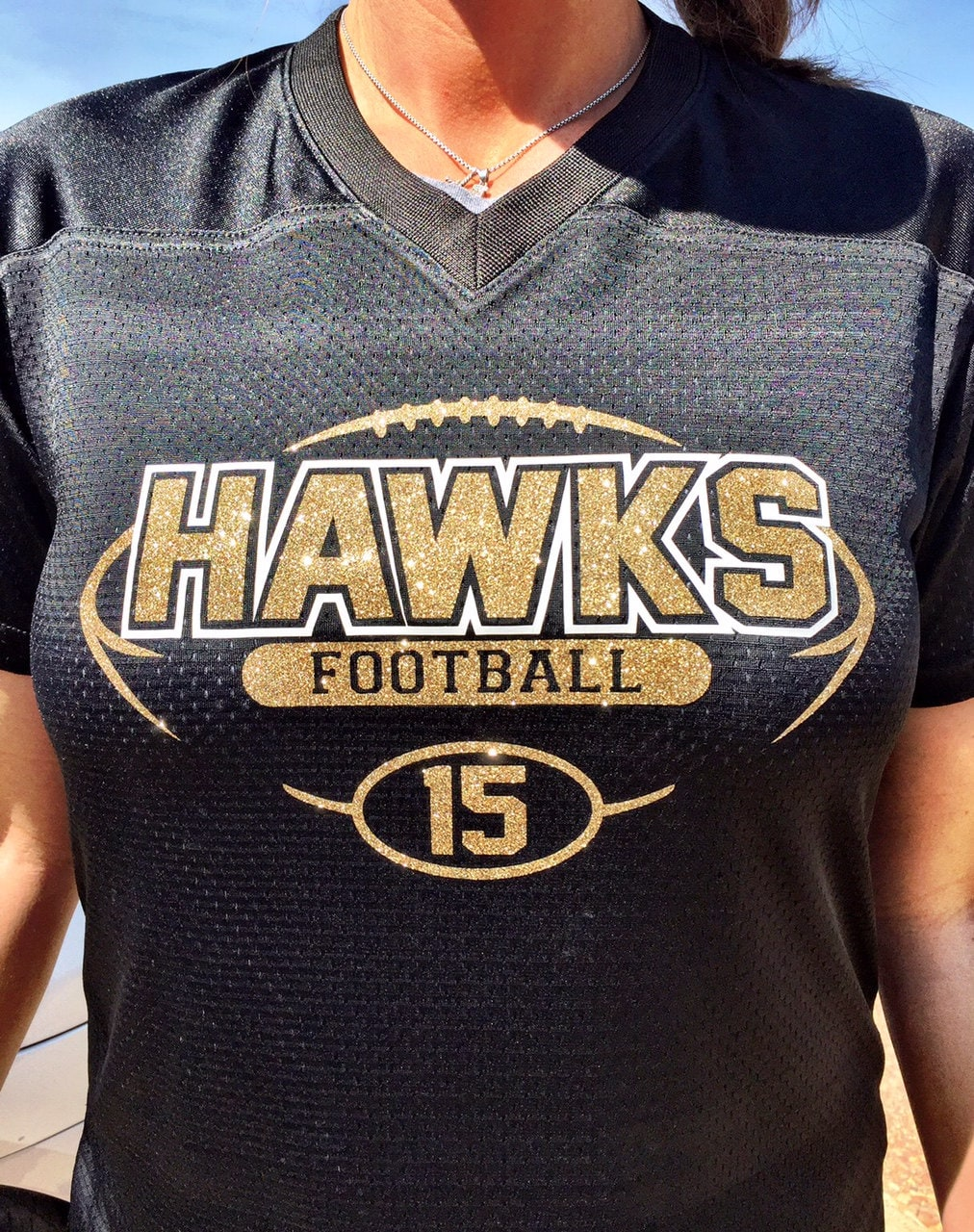 4bab0d81a Bling Football Jersey. gallery photo ...