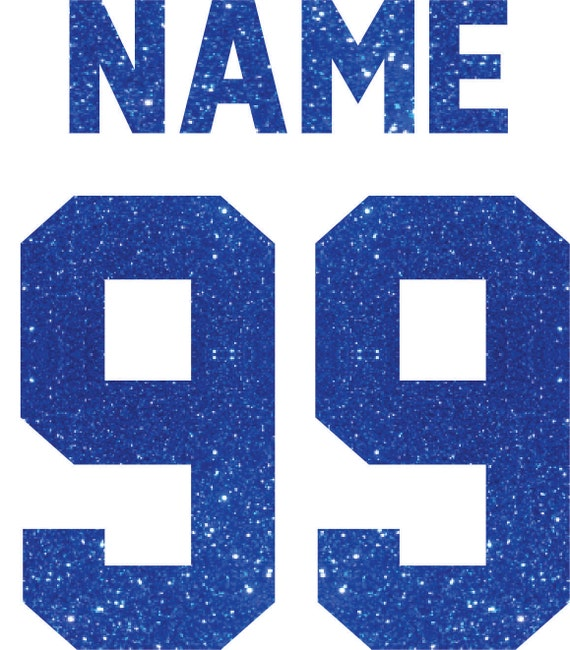 Personalized Glitter -  Name & Number