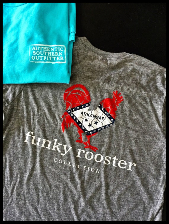 Funky Rooster Signature Arkansas Flag Soft Style Tee