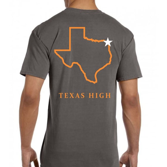Texas High {State of Texas} Comfort Colors Pocket Tee