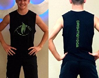 DRISHTIQ Men's Muscle Tee - Drishtiq Yoga Lines