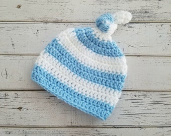 3e145072905 Newborn top knot hat