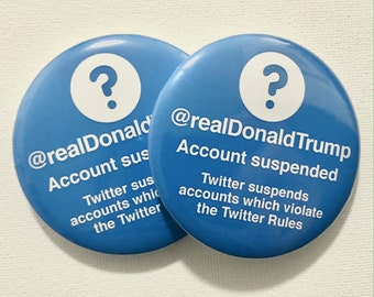 "Limited Edition 1 3//4 X 2 3//4/"" Anti-Trump Virus Twitter Tweet Pinback Button"