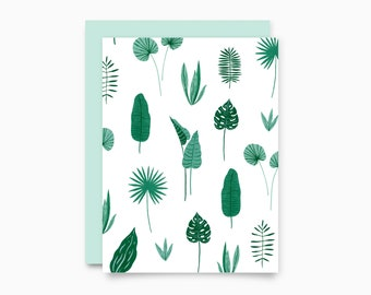 Jungle Pattern Greeting Card