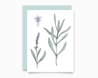 Lavender greeting card