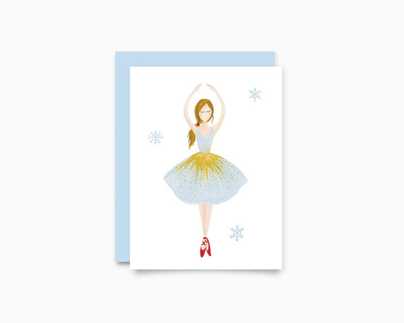 Holiday Greeting Card   Ballerina image 0