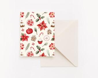 Christmas Card - Sweet Poinsettia