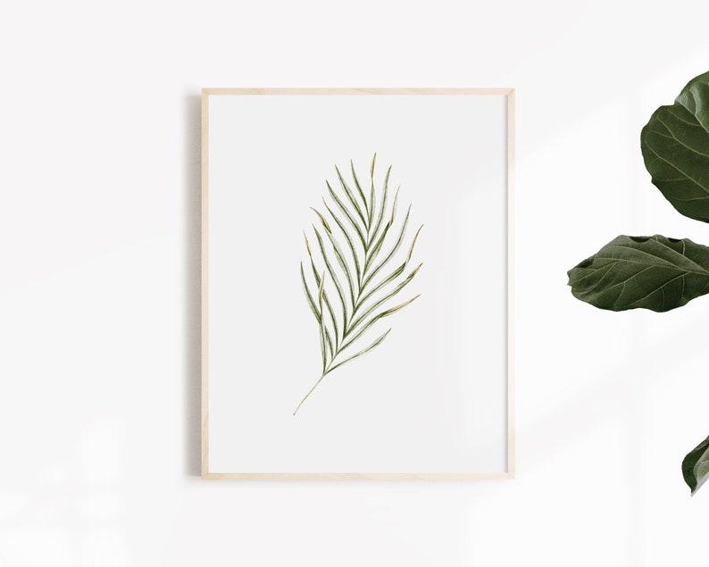 Palm Leaf Poster  Botanical Illustration  Art Print image 0