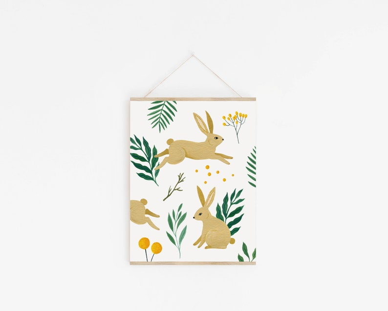 Hares Pattern Art Print image 0