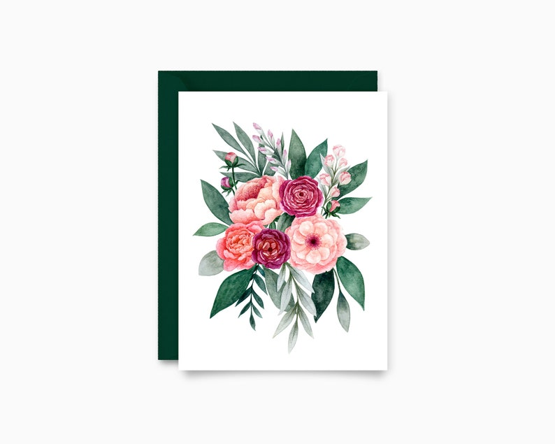 Romantic Bouquet greeting card image 0