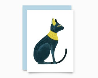 Egyptian Cat greeting card