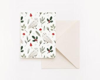 Christmas Map - Snowy Owl
