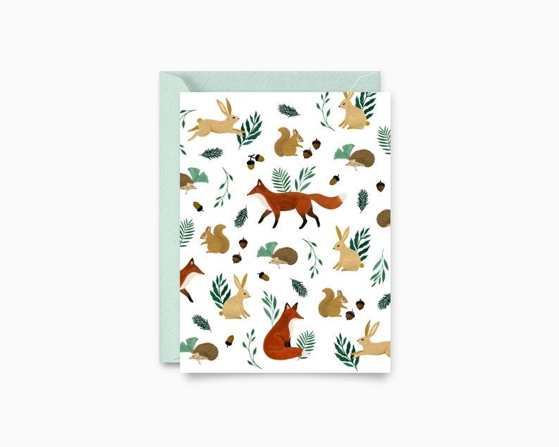 Woodland Pattern Greeting Card image 0