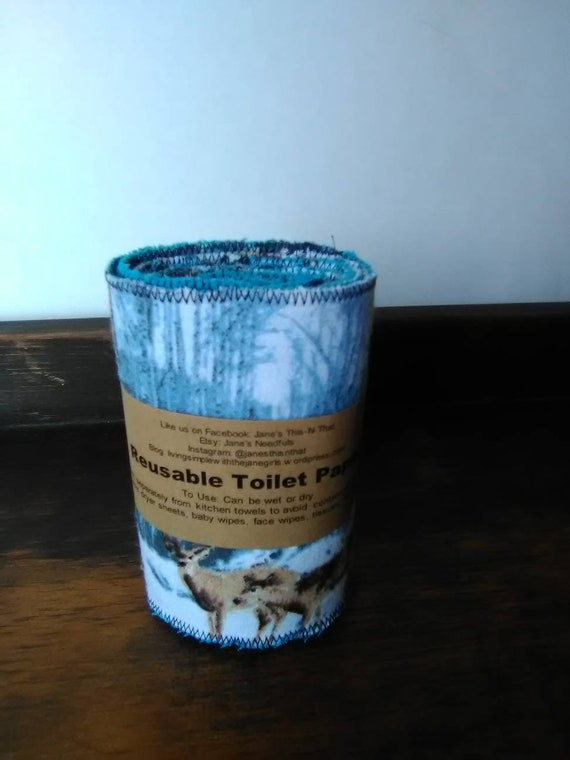 Reusable family cloth toilet paper roll flannel grab bag