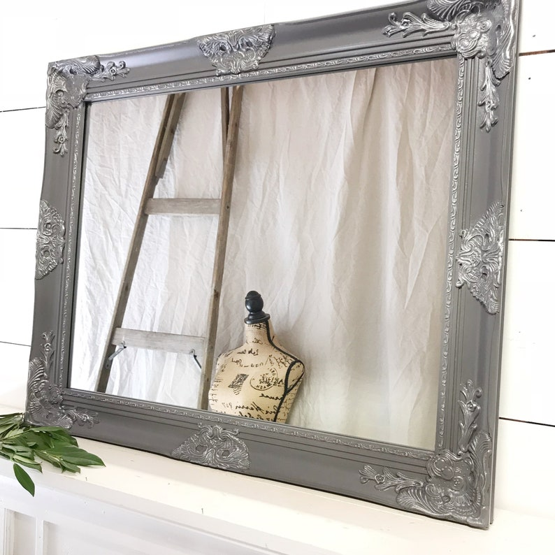Bathroom Mirror Vanity Mirror Vintage Farmhouse Mirror Wall Etsy