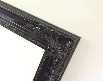 Black Dry Erase Board, Farmhouse White Board, Ornate Frame