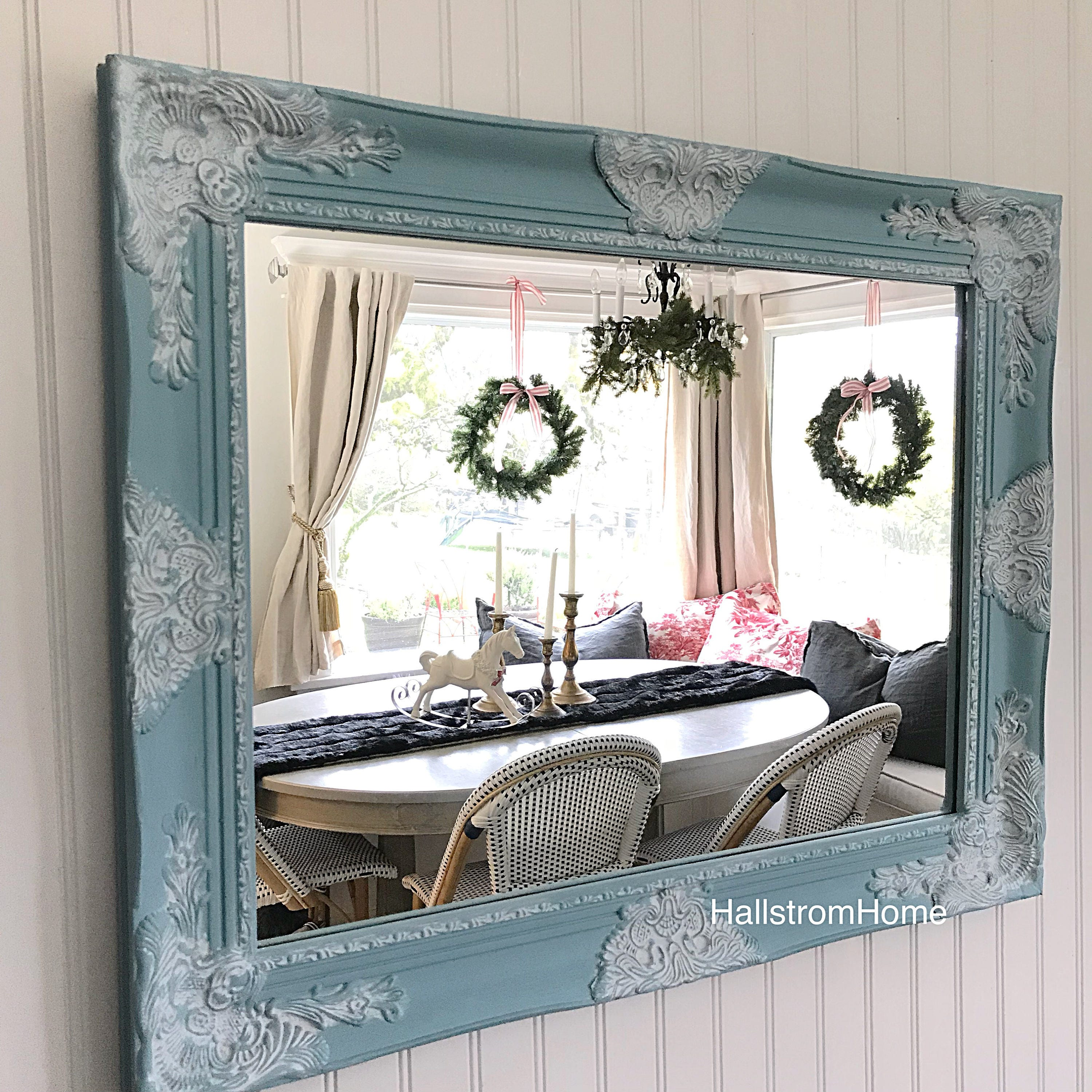 Shabby Chic Mirror Farmhouse Style Farmhouse Mirror