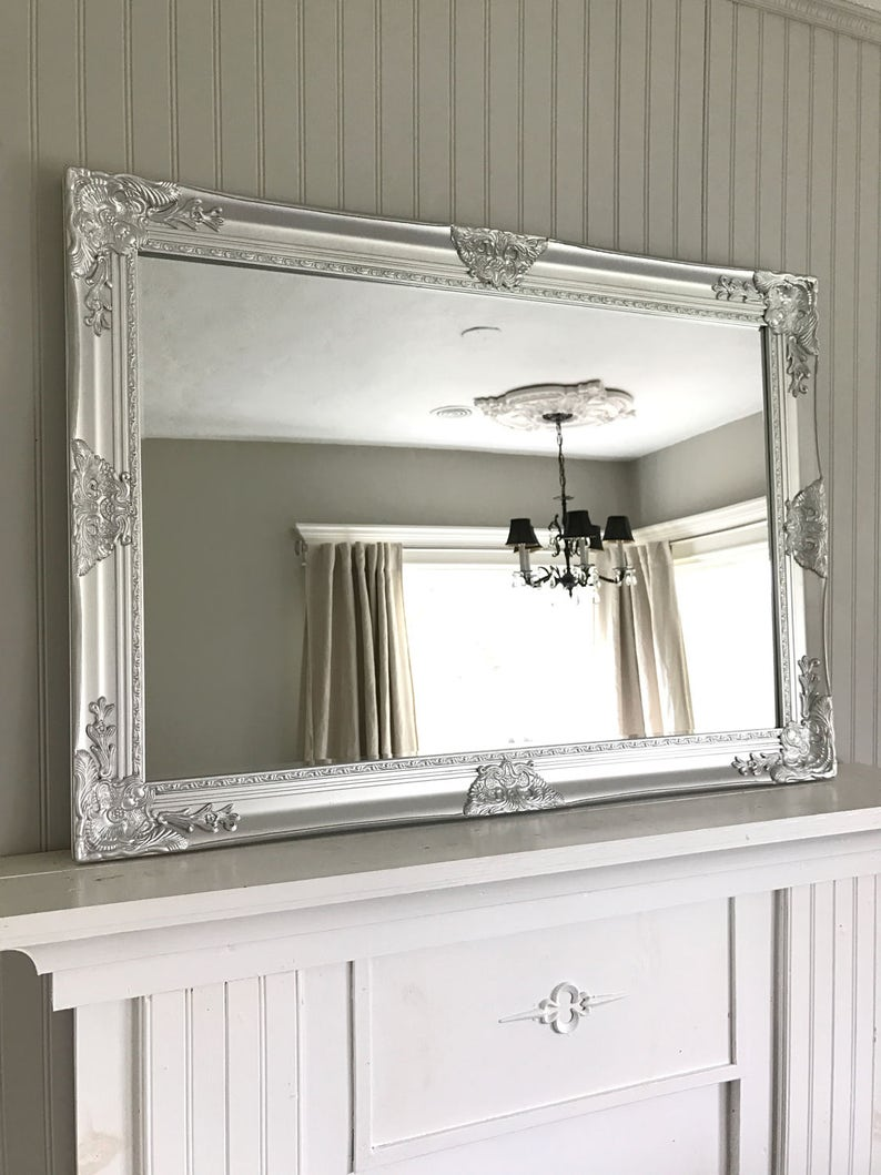 f78ec104fd8f9 Shabby Chic Mirror Farmhouse Bathroom Mirror Bathroom Vanity