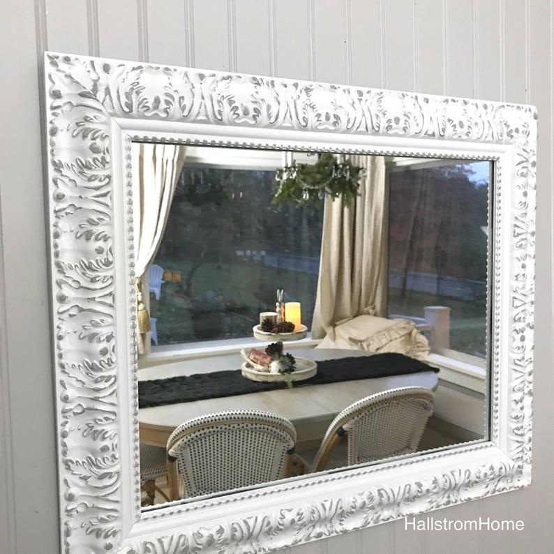 415fcba62fb15 Ornate Farmhouse Mirror Farmhouse Bedroom Mirror Bathroom