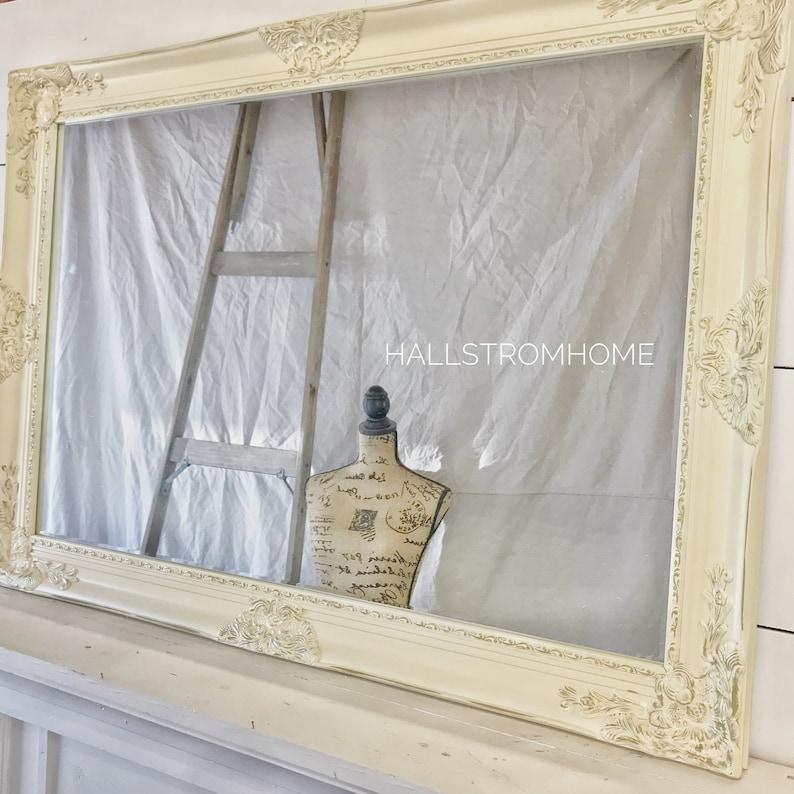 c9224ccdd319a Cream and Gold Nursery Mirror French Farmhouse Mirror