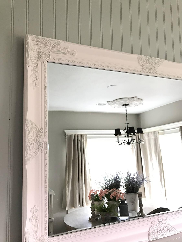 Pink Farmhouse Mirror Bathroom Vanity Mirror Ornate Mirror