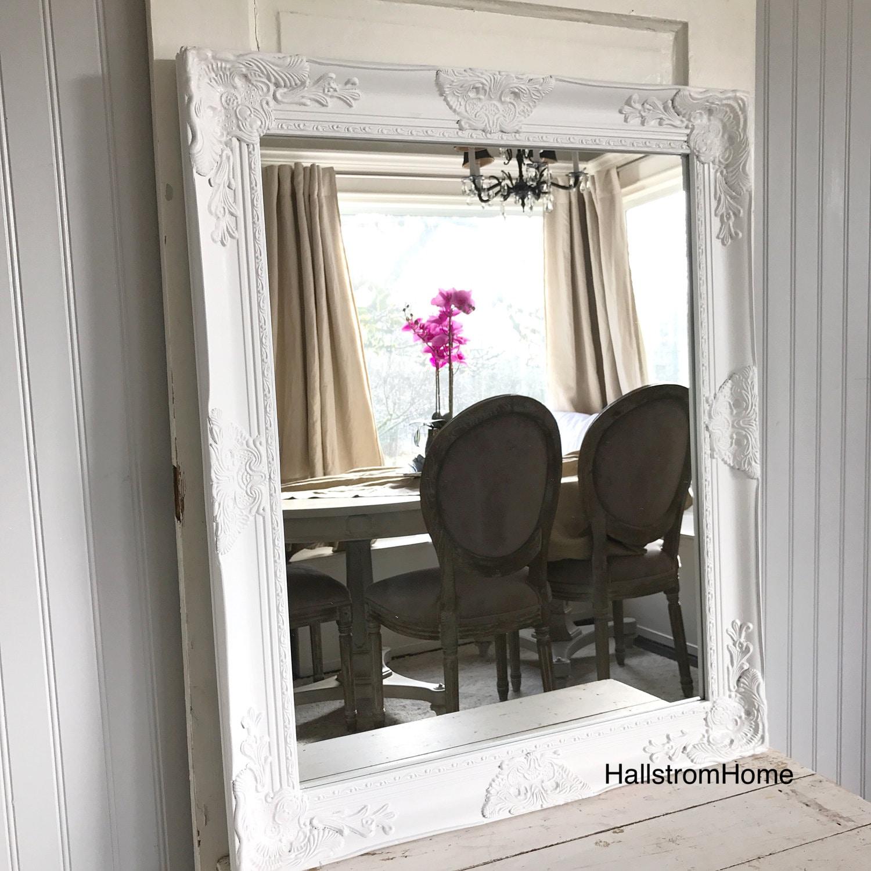 Gifts For A Farmhouse Decor Fan: White Bathroom Mirror Wedding Mirror Decor Farmhouse