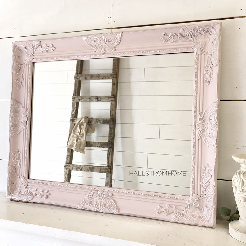 Astonishing Bathroom Mirror Vanity Mirror Shabby Chic Decor Wedding Seating Chart Girls Room Nursery Decor Pink Wall Decor Download Free Architecture Designs Philgrimeyleaguecom