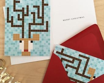 Christmas Cards - Reindeer (Pack)