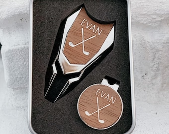 Personalized Divot Tool Set, Ball Marker,  Golf Gifts for Men, Fathers Day Golf Gift, Gift for Him, Groomsmen Gift