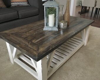 Rustic Distressed Coffee Table, Rustic Wooden Coffee Table, Distressed Table, Rustic Distressed Coffee Table