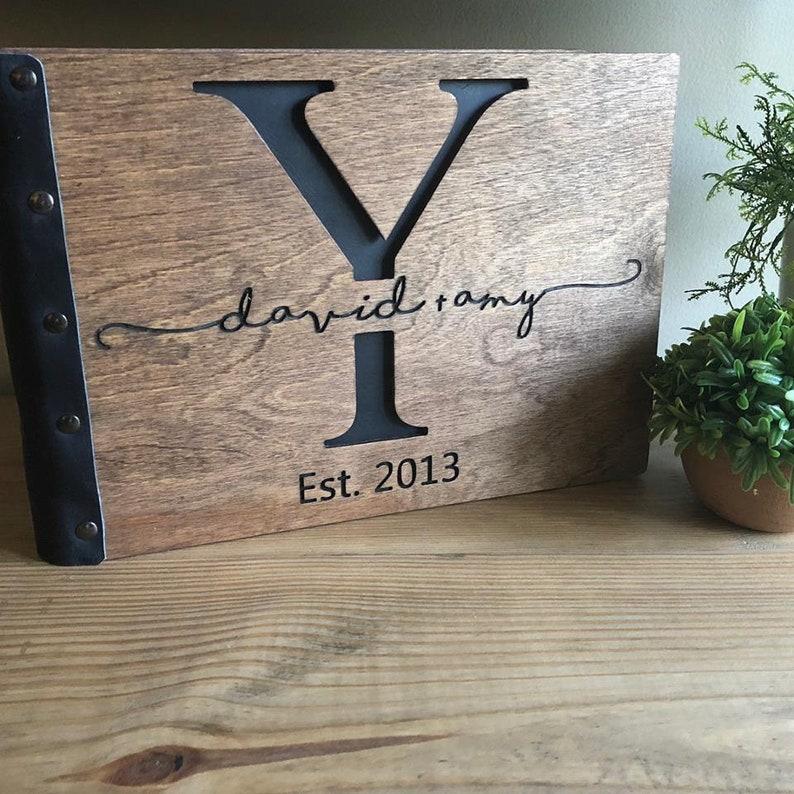 Personalized Wedding Album Leather Bound Photo Album Wood Photo Album Wood Photo Album Custom Wedding Album Custom Wedding Album