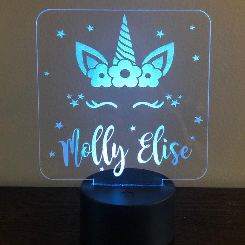 Personalized Night Light  Unicorn Night Lights  (girlybuilds)