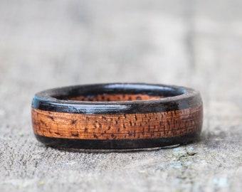 Koa and Ebony Wooden Ring