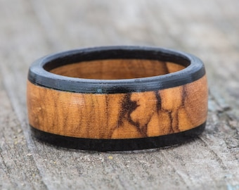 Bethlehem Olivewood and Ebony Ring