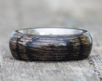 Black Tennessee Whiskey Barrel and Titanium Ring