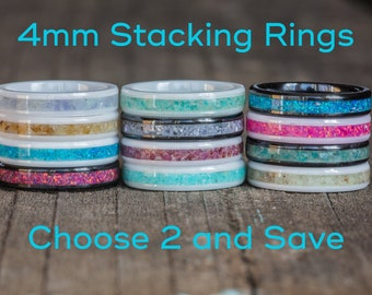 4mm Ceramic Stackable Rings - Pick 2 and Save