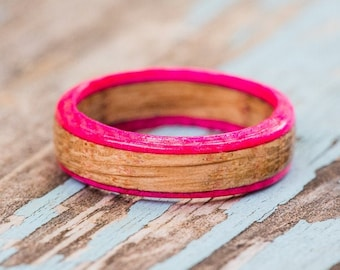 Pink Edged Whiskey Barrel Ring