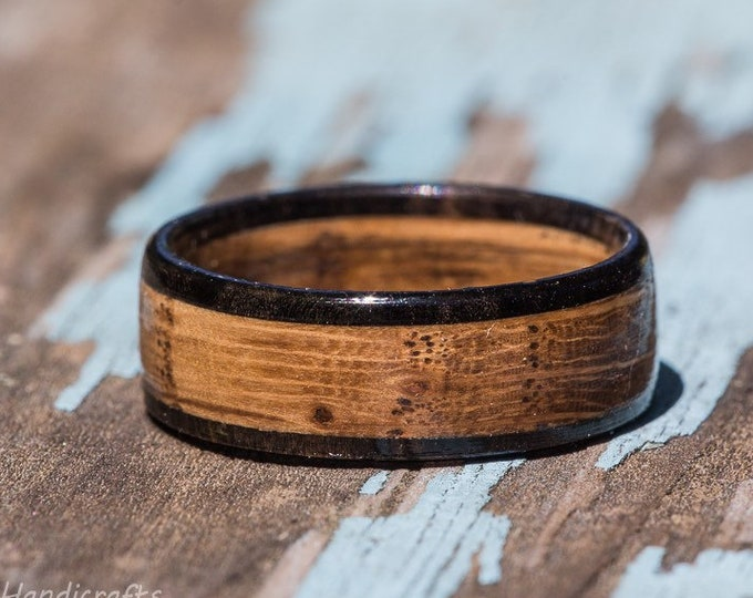 Featured listing image: Tennessee Whiskey Barrel and Ebony Wood Ring