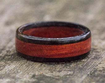 Redheart and Ebony Wood Ring